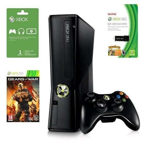 Xbox 360 Slim 4gb Jogo Gow Judgment + Pendrive 8gb