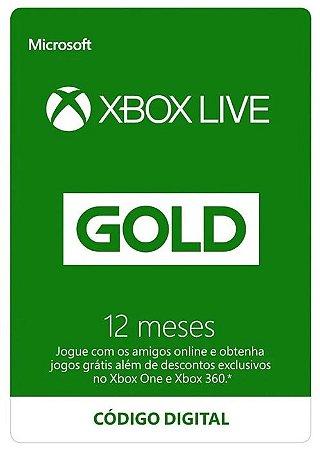Cartão Assinatura 12 Meses Xbox Live Gold - Código Digital