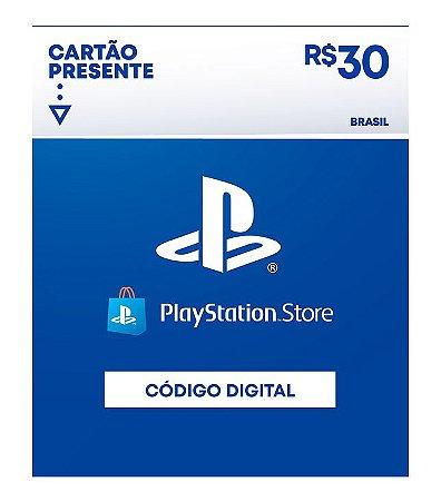 Cartão Presente Playstation Store R$30 - Código Digital