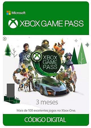 Cartão Assinatura 03 Meses Gamepass - Código Digital