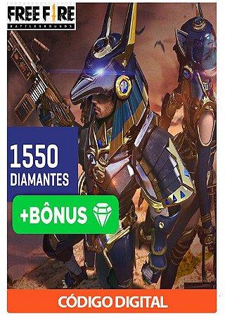 Créditos para Free Fire - 1550 Diamantes + Bônus