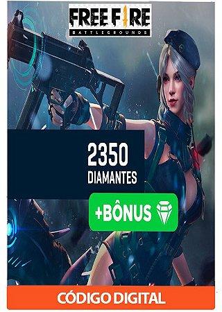 Créditos para Free Fire - 2350 Diamantes + Bônus
