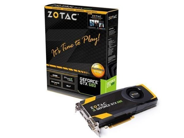 PLACA DE VÍDEO GEFORCE ZOTAC NVIDIA GTX 680 4GB DDR5 256BITS 6008MHZ / 1006MHZ 1536 CUDA CORES DVI | DVI | HDMI | DP