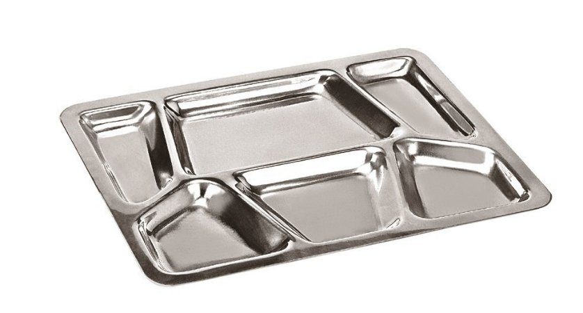 Bandeja de Alumínio com 6 Divisões