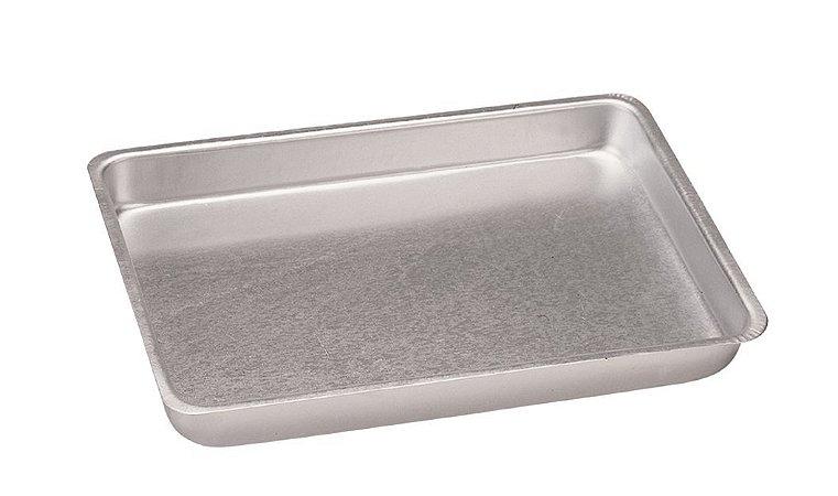 Assadeira de Alumínio Comum Nº 1 - 29,5 x 19,5 x 3,5 cm