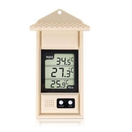 Termômetro de Máxima e Mínima Digital de -70 à +70 Graus com Proteção Plástica Tipo Capela