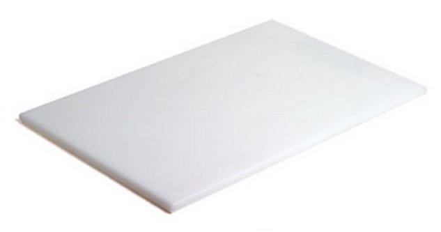 Tábua Para Corte Polietileno Branca sem Canaleta 50 x 30 x 1 cm | Engreflon