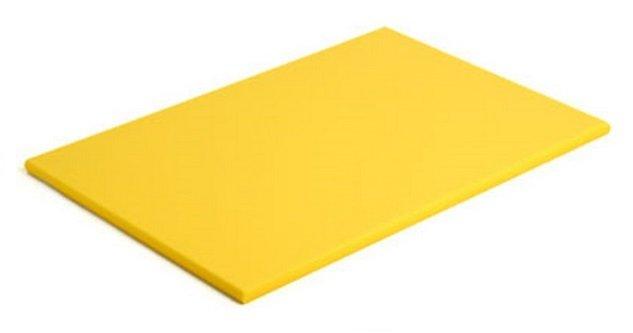 Tábua Para Corte Polietileno Amarela sem Canaleta 50 x 30 x 1 cm | Engreflon
