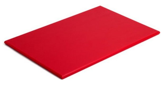 Tábua Para Corte Polietileno Vermelha sem Canaleta 50 x 30 x 1 cm | Engreflon