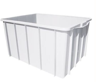 Caixa Plástica Branca 38 Litros | 54,5 x 37 x 27,5 cm
