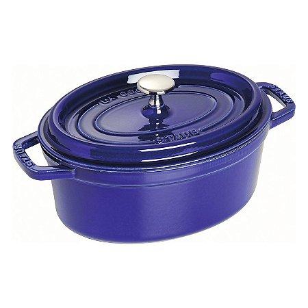Caçarola Oval Ferro Fundido 29 cm Azul Marinho   Staub