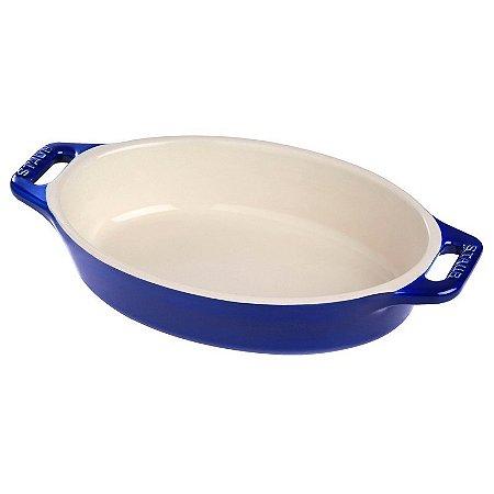 Travessa Oval Cerâmica 29 cm Azul Marinho | Staub