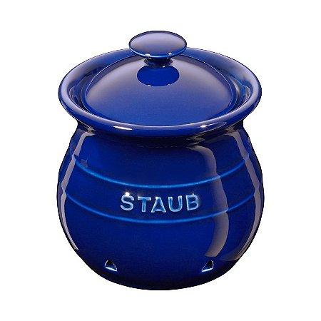 Porta Alho Cerâmica 11 cm Azul Marinho | Staub