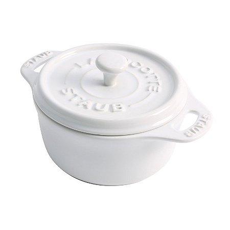 Caçarola Redonda Cerâmica Branca 10 cm | Staub