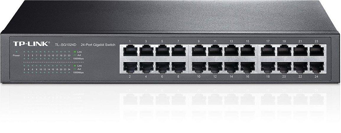 Switch TP-LINK Mesa/Rack 24 Portas Gigabit TL-SG1024D
