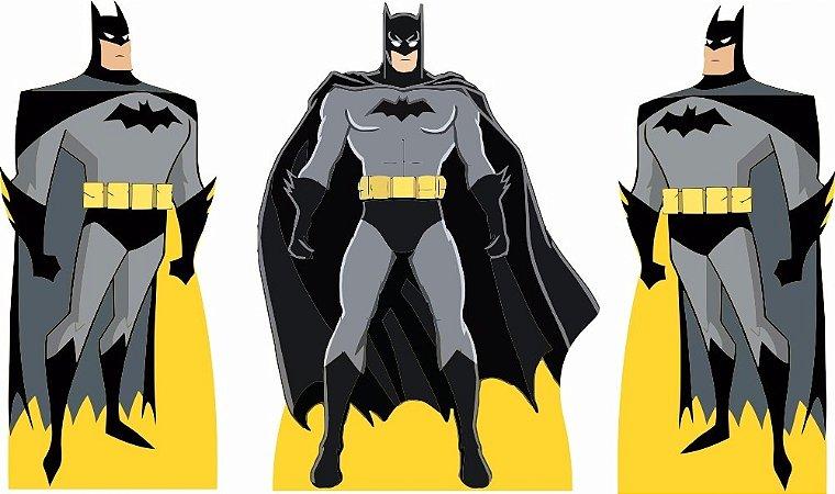 Kit 3 Batman Display Cenário Decoração Aniversário Festa
