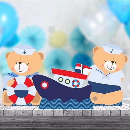 Kit 3 Ursinho Marinheiro Cenário Decoração Aniversário Festa