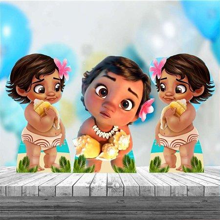 Kit 3 Moana Baby Totem Display Mdf Festa Aniversario