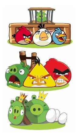 Kit 3 Display Centro Mesa Angry Birds Festa Infantil Mdf