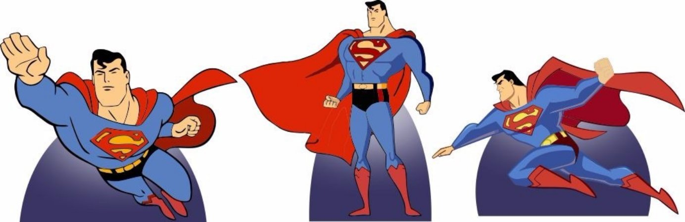 Kit 3 Und Totem Display Centro De Mesa Super Man Homem Herói