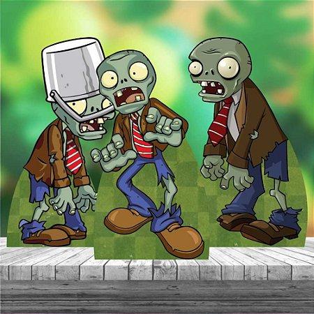 Kit 3 Totem Display Plantas Vs Zumbis Zombies