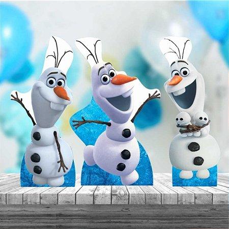 Kit 3 Olaf Frozen Neve Aniversário Festa Totem Display Mdf