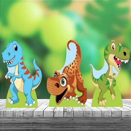 Kit 3 Totem Dinossauro Baby Mdf Decoração Display Festa