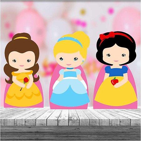 Kit 3 Display Mesa Princesas Cute Decoração Festa