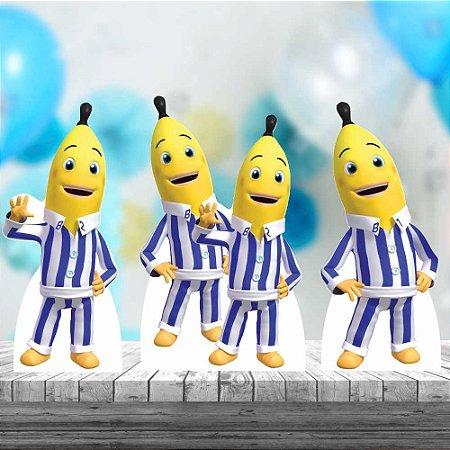 Kit 3 Totem Festa Display Bananas De Pijamas