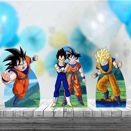 Kit 3 Dragon Ball Cenário Aniversário Festa