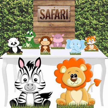 Combo Diamante Safari Baby Totem Festa