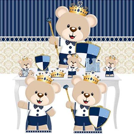 Combo Festa Diamante Ursinho Principe Painel Totem