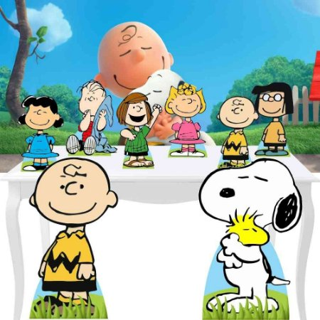 Combo Diamante Display Snoopy Chalie Brown Festa Totem