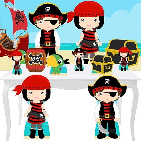 Combo Diamante Painel Totem Display Piratas Cute Decoração