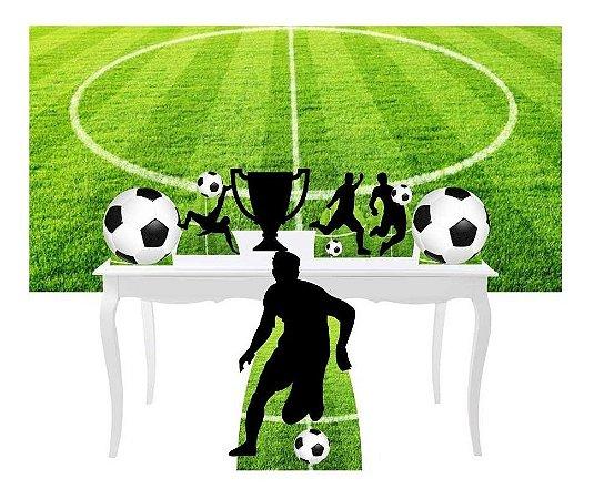 Combo Festa Prata Futebol Esporte Bola Painel Totem