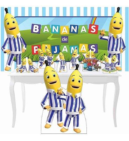 Combo Prata Totem Festa Display Bananas De Pijamas