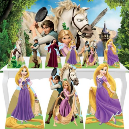 Combo Ouro Totem Display Painel Enrolados Rapunzel