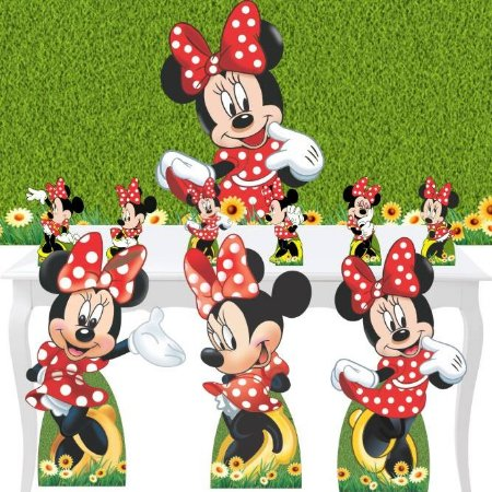 Combo Festa Ouro Minnie Vermelha Totem Display