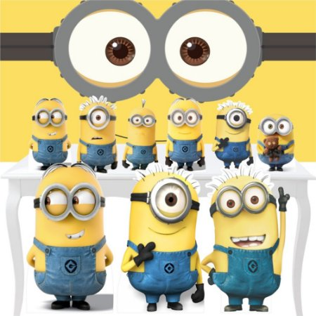 Combo Ouro Minions Painel Totem Display Festa