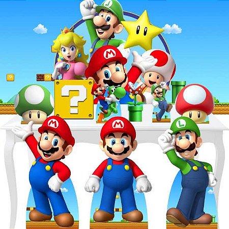 Combo Ouro Super Mario Aniversário Benção Festa