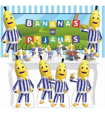 Combo Ouro Totem Festa Display Bananas De Pijamas