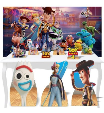 Combo Festa Ouro Toy Story 4 Painel Totem Mdf