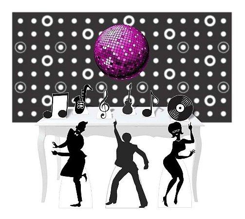 Kit Combo Festa Premium Totem Display Painel Anos 60 Disco