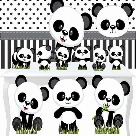 Kit Festa Combo Premium Panda Baby Totem Display Painel