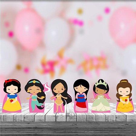 Kit 6 Display Mesa Princesas Cute Decoração Festa