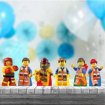 Kit 6 Totem Display Lego Decoração Mdf Aniversário Festa