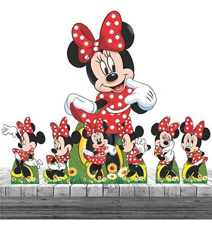 Kit 7 Festa Displays Decoração Minnie Vermelha