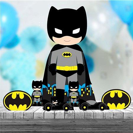 Kit 7 Batman Cute Decoração Totem Display Festa Mdf