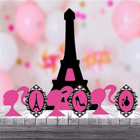 Kit 7 Paris Barbie Festa Totem Display Cenário Mdf Provençal