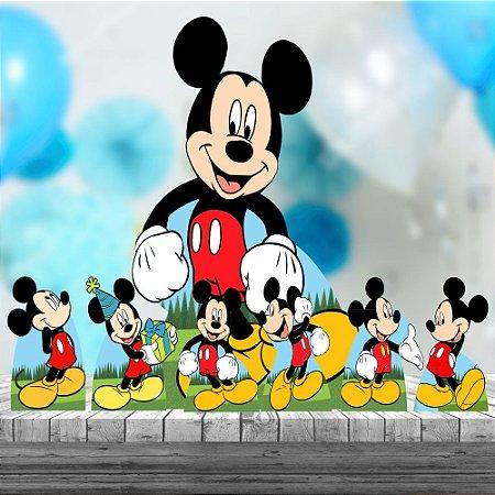 Kit 7 Festa Decoração Totem Display Mickey Aniversario